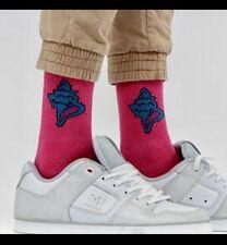 Flamme Feu Skateboard Chaussettes Blanc kawaii Streetwear Butor Huf Supreme Thrasher *
