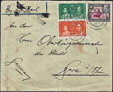 219 KENIA UGANDA TANGANYIKA TO GERMANY COVER 1937 IRINGA -TANZANIA-