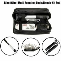 Bike Bicycle Cycling 16 in 1 Multi Function Tools Repair Kit Set With Bag CCG