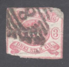 BRUNSWICK STAMP #3 --  3sgr LEAPING HORSE --1852 -- USED