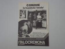 advertising Pubblicità 1974 BAMBOLA ITALOCREMONA CORINNE
