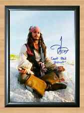 Johnny Depp Pirates Of The Caribbean Signed Autographed A4 Poster Print Photo