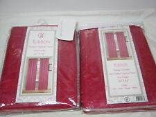 New VH Ribbon Flocked Organza Sheer Window Panels 2 (60x84) Hot  Pink  NIP