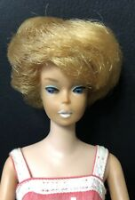 VINTAGE Barbie Doll Mattel 60s White Lips Bubble Cut Blonde Hair Japan 1962
