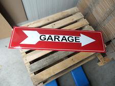 Garage Entrance Arrow Dealership Genuine Porcelain Enamel Sign 37 X 10 Inch
