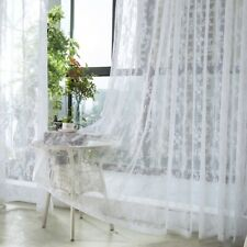 Lace Floral Curtains Fabric Cloth Window Door Tulle Sheer Mesh Country Style