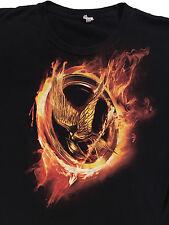 The Hunger Games Mocking jay logo Black T-shirt Sz. L