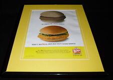 Wendy's 2006 Chicken Sandwich 11x14 Framed ORIGINAL Advertisement
