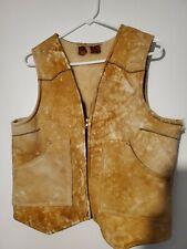 Vintage Hankey's Shearling Genuine Sheepskin Vest With Pockets Size Men's Medium