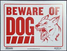 BEWARE OF DOG - Sign Deter Intruders 16 X 12 - NEW