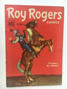 1950 Dell ROY ROGERS Comic #36 on rearing Trigger F+/VF- Photo Cover