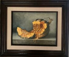 "Mexican Art Painting Oil Original  Signed circa 2003 ""Open pumpkin"""
