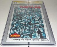 Teenage Mutant Ninja Turtles #38 CGC SS Signed HUGE Sketch K. EASTMAN COWABUNGA!
