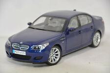 d44 BMW 5er M5 E60 LIMOUSINE INTERLAGOS BLUE 1:18 KYOSHO DEALER VERY RARE