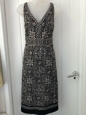 MONSOON MURANO Black & Gold Jacquard Party Cocktail Dress, Size UK 18 NWT
