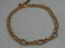 NEW WITH TAGS JUICY COUTURE PAVE LINK GOLD STARTER NECKLACE  RETIRED