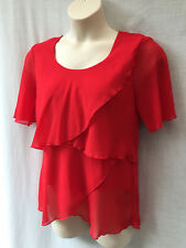 Vivid Size 14 Womens Top Blouse Work Casual Occasion Evening Party  - FREE POST