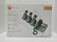 Motorola M804C Digital Cordless/Corded Phones With Answering Machine DECT 6.0