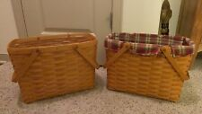 Longaberger Baskets in good condition. Five baskets in the set. Liners included