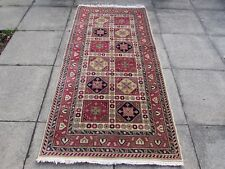 Old Hand Made Traditional Turkish Rugs Oriental Wool Pink Red Rug 210x101cm