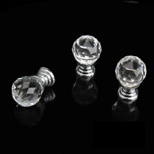 20mm Round Handle Cabinet Cupboard Crystal Glass Drawer Door Knobs Pack of 10