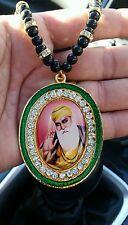 Oro Plateado punjab sij Guru Nanak Colgante Coche Trasera Espejo Colgante mala-Verde