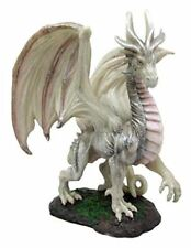 """Fantasy Mythical Medieval Battle of Thrones Wise Old Ancient Dragon Figurine 8""""h"""