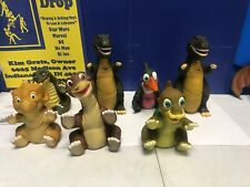 Vintage 1988 Land Before Time Hand Puppets  Lot of 7
