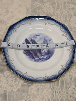 Antique Limoges Hand Painted Scenery Plate
