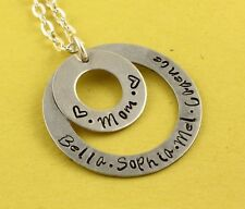 Personalized Custom Hand Stamped Mom Necklace