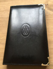 Cartier Black Leather Notepad & Address Book