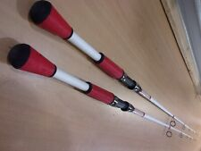 2 Shakespeare Ugly Stik Red and White 6 foot 6 inch spinning rods #Usrwbsp661M
