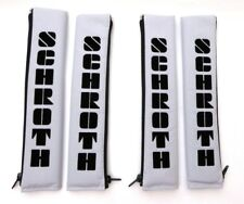 4 Stück Schroth 2 Zoll 50mm Gurtpolster Flock silber Gurtschoner