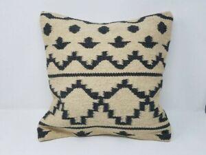 Vintage Afghan tribal kilim pillow cover/ Decorative pillow Afghan Nomadic cushi