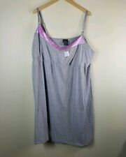 Oh Baby Motherhood Women Sleepwear Gray Size 3x Nursing Top Gown