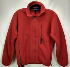 Vintage Patagonia Mens Fleece Jacket Size Small Red Full Zip Sweater Winter Coat