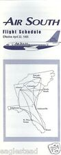 Airline Timetable - Air South - 22/04/95 (US)