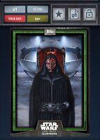 Star Wars Card Trader 2018 GREEN CTI Series 6 - DARTH MAUL AWARD 215CC