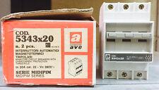 AVE INTERRUTTORE MAGNETOTERMICO 3P+N 20A SERIE MIDIPIM- 5343x20