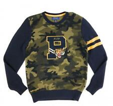 Polo Ralph Lauren Boys Camo Cotton Letterman Sweater Pullover Medium 10-12