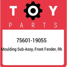 75601-19055 Toyota Moulding sub-assy, front fender, rh 7560119055, New Genuine O