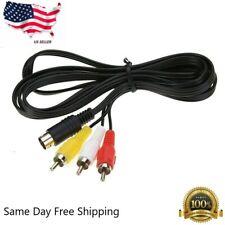 6 ft RCA Composite AV Cable for SEGA Genesis 2 & 3