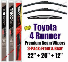 Wipers 3pk Premium Front Special Rear fit 2003-09 Toyota 4 Runner 19220/200/12F