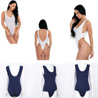 One-piece Women Sleeveless Bodysuit Swimwear Sleeveless Teddies Leotard Lingerie