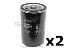 Mercedes w124 w126 Spin-On Type Oil Filter Set of 2 MANN OEM +1 YEAR WARRANTY