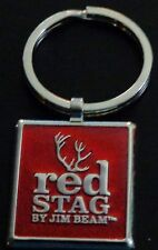 Jim Beam Red Stag Key Chain - Stainless Steel - Very Shiny......NEW