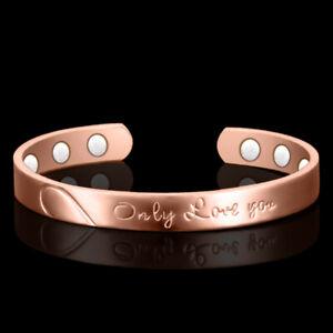 "Copper ""only Love You"" Bangle!6 Magnets Health Balance Magnetic Bracelet Bangle"
