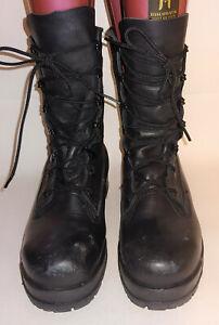 Belleville Black 360ST Leather Military Combat Boots Women's 6.5W Vibram