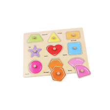 Wooden Grasp Board Puzzles Geometric Shape Baby Early Educational Toys CB