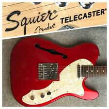 squier by fender Telecaster Thinline Red Made in China Electric Guitar Used